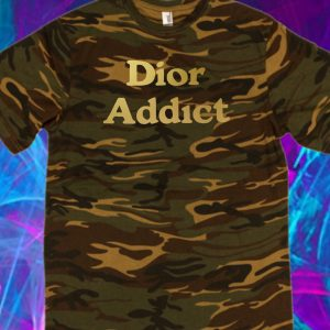 Dior addict Camo in Gold tshirt