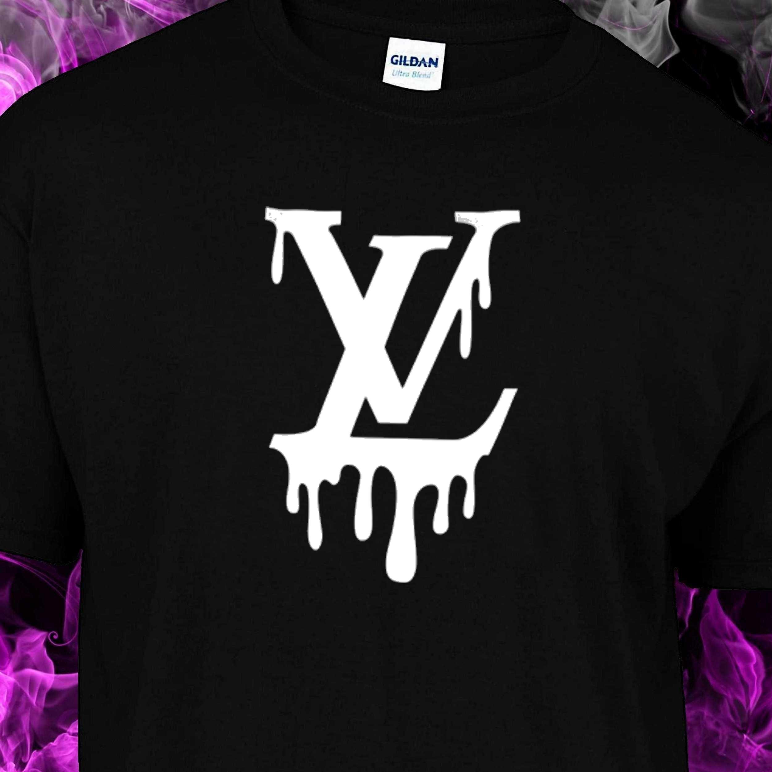692d9dc40b Lord Vordemort / Louis Vuitton drip inspired – Tshirt – BLACK TSHIRT –  WHITE LOGO