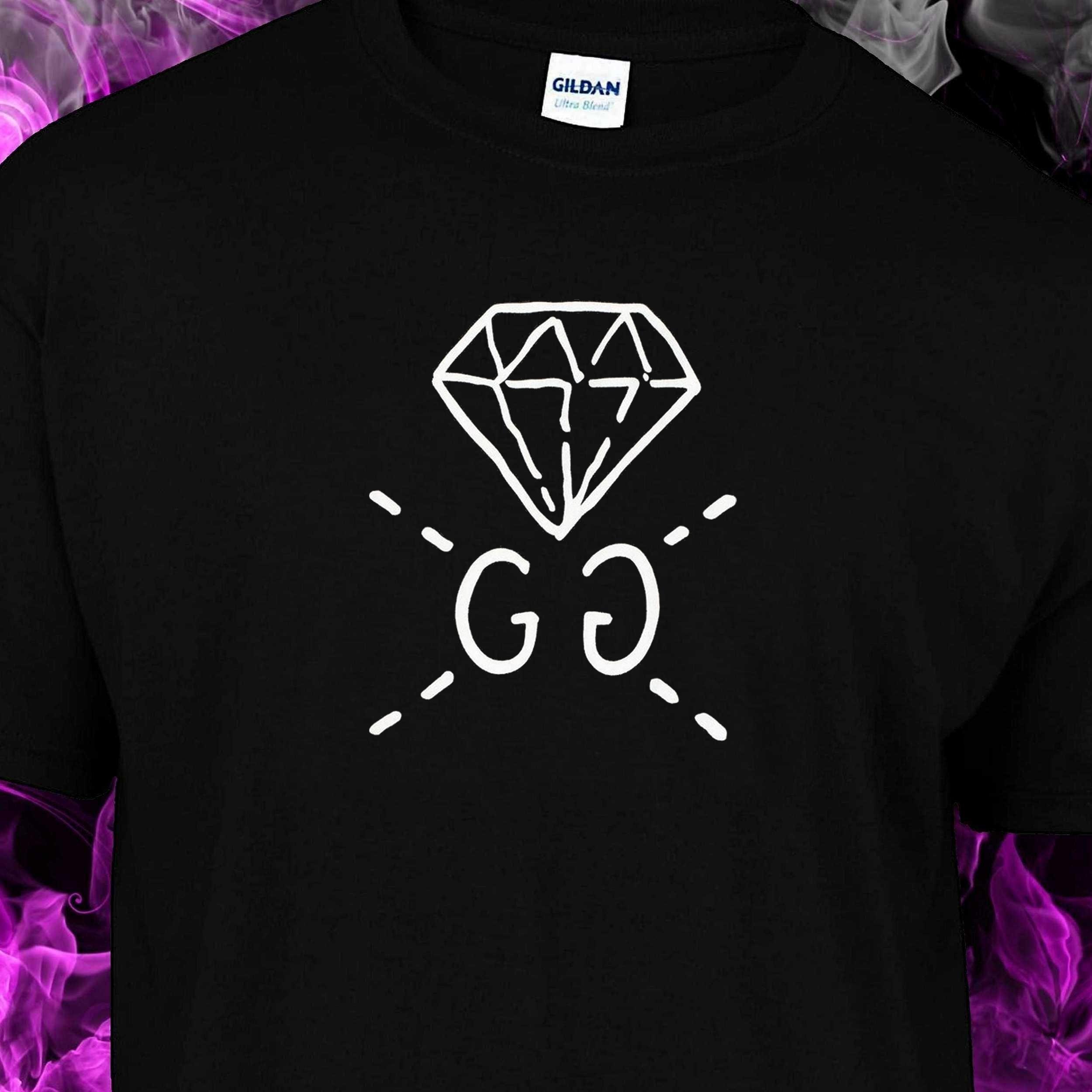 2ddf8d93 GUCCI GG DIAMOND – Black Tshirt (WHITE LOGO) – T-Industries