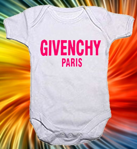 b5106ea56 Given chy Paris – Baby White Vest – (pink logo) – T-Industries